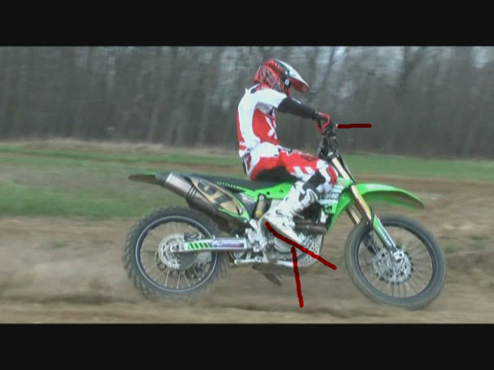 motocross bike body